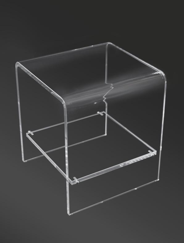 Curved Acrylic Table